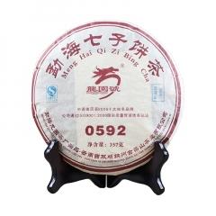 2007年龙园号 0592 熟茶 357克/饼