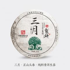 2018年福元昌 三月 蛮砖(头春纯料) 生茶 357克/片 单片