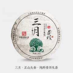 2018年福元昌 三月 莽枝(头春正山纯料) 生茶 357克/饼 单片