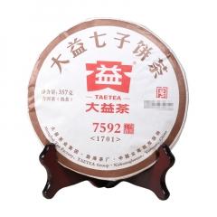 2017年大益 7592 1701批 熟茶 357克/饼 单片