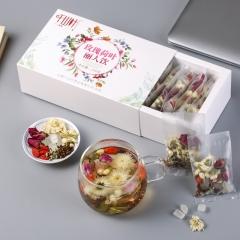 千山叶 玫瑰荷叶丽人饮 组合花草茶 220克/盒