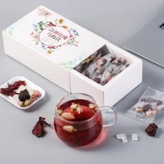 千山叶 洛神玫瑰乌梅饮 组合花草茶 200克 1盒