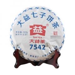 2018年大益 7542 1801批 生茶 357克/饼