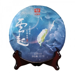 【破损】2018年大益 云起 生茶 357克/饼