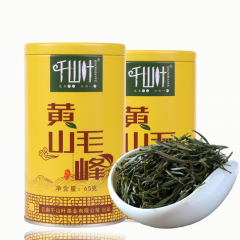 千山叶 黄山毛峰 绿茶 65克/罐 1罐