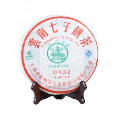 2007年八角亭 0432 生茶 357克/饼 单片
