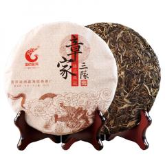 2018年国艳 章家三队 布朗山 生茶 357克/饼