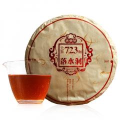 2017年吉普号 元熟723润 落水洞 熟茶 357克/饼