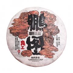2018年老同志 良工鹏图熟饼 熟茶 400克/饼