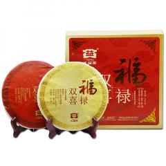 大益 福禄双喜 双饼礼盒 生熟茶 714克/盒