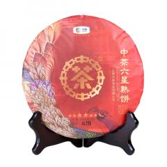 2018年中茶 六星熟饼 熟茶 357克/饼