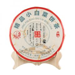 2018年下关 精品小白菜 (铁饼)生茶 357克/饼