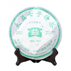 2005年大益 7542青饼 507批 生茶 357克/饼