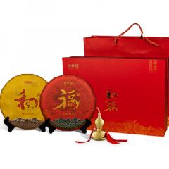 2019年洪普号 《和》《福》 猪年生肖纪念饼 礼盒装 生熟套 714克/套