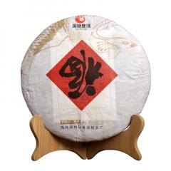 2018年国艳 福字饼 熟茶 357克/饼
