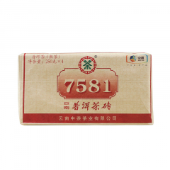 2018年中茶 7581简装 熟茶 1000克/包