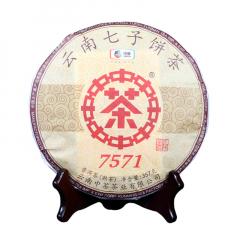 2018年中茶 7571 熟茶 357克/饼