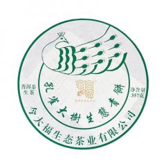 2019年今大福 孔雀大树生态青饼 生茶 357克/饼