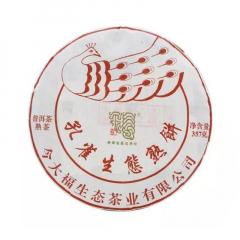 2019年今大福 孔雀生态熟饼 熟茶 357克/饼