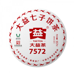 2018年大益 7572 1801 批 熟茶 357克/饼 单片