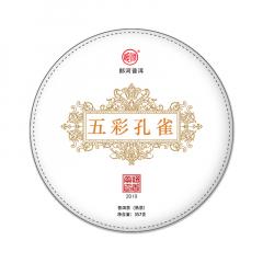 2019年郎河 五彩孔雀 熟茶 357克/饼