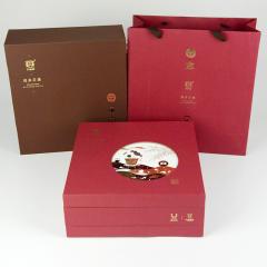 2011年大益 7542+7572 生熟套装 礼盒装 714克/套装