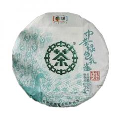 2019年中茶 绿色孔雀 生茶 357克/饼