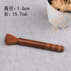 茶具  茶道配件 养壶笔 实木圆头茶刷