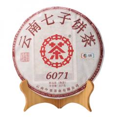 2019年中茶 6071 熟茶 357克/饼