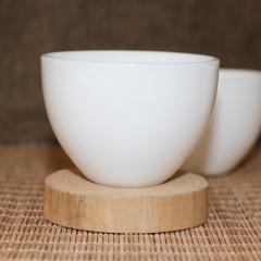 茶具 茶道配件 仿羊脂玉瓷杯 品茗杯茶杯
