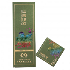 2019年古德凤凰(南涧茶厂) 凤凰印象 绿印 砖茶 生茶 方格茶 216克/盒