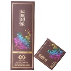 2019年古德凤凰(南涧茶厂) 凤凰印象 紫印 砖茶 熟茶 方格茶 216克/盒