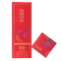 2019年古德凤凰(南涧茶厂) 凤凰印象 红印 晒红砖茶 滇红茶 方格茶 216克/盒