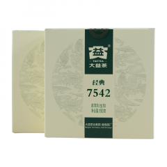 2018年大益 经典7542 1801批 生茶 150克/饼 单片