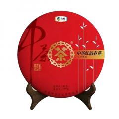 2019年中茶 红韵春芽 熟茶 357克/饼