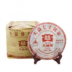 2010年大益 7572 普洱熟茶 357克/饼 单片