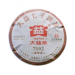 2019年大益 7592 1901批 熟茶 357克/饼