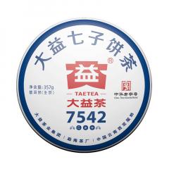 2019年大益 7542 1902批 生茶 357克/饼