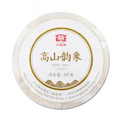 2019年大益 高山韵象 1901批 熟茶 357克/饼