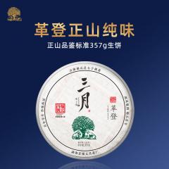 2020年福元昌 三月革登(头春正山纯料)春茶 生茶357克/饼 单片