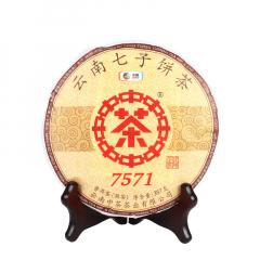 2019年中茶 7571 熟茶 357克/饼 单片