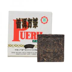 2002年中茶(勐海茶厂) 普洱方茶 熟茶 100克/砖