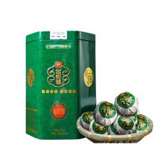 2019年大益 金柑普(益粒醇)小青柑熟茶 柑普茶 200克/罐