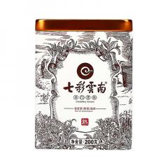 七彩云南 普洱 熟茶 散茶 200克/罐 1盒