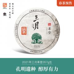 【春茶现货】2021年福元昌 三月系列 革登 头春正山纯料 生茶 357克/饼 1饼