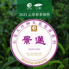 【春茶预售】2021年云章 景迈 头波早春茶 生茶 100克/饼 整提(5饼)