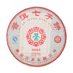 2011年澜沧古茶 0083 熟茶 357克/饼