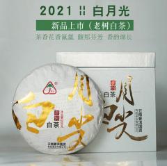 2021年八角亭 嘉木 白月光 老树白茶 200克/饼
