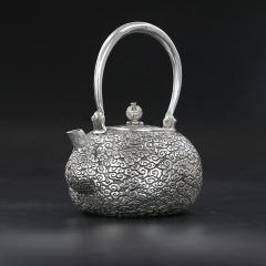 纯银999全手工银壶-祥云瑞天纯银壶