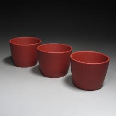 高桶品杯80cc 原矿红泥【民间艺人】宜兴紫砂杯